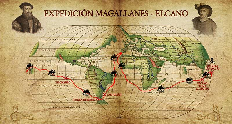 La Clave Pigafetta. Escape Game. Mapa expedición.